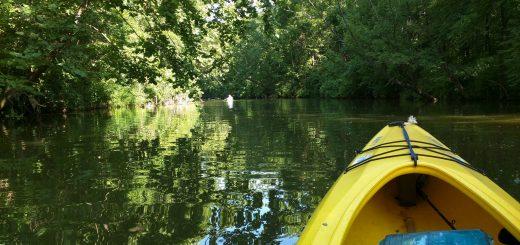 fishing in my kayak